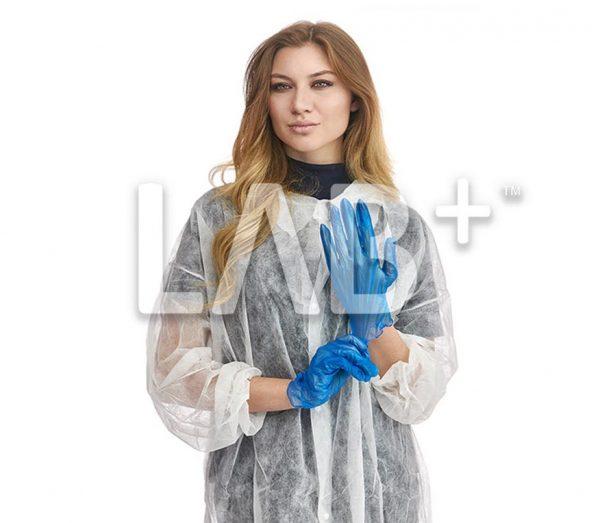 perchatki vinilovie sinie 1 e1522766824910 600x523 - Vinyl gloves, colour Blue, size XL