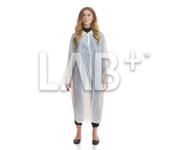 halat polietilenoviy beliy 2 e1522913588583 600x523 - Polyethylene procedural gowns, XLL