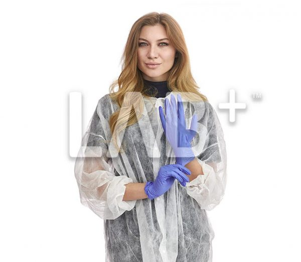 "perchatki nitrilovie fioletoviy 2 e1522915889691 600x523 - Nitrile ""Ice Blue"" gloves, size XL"